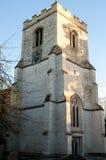 Englische Kirche und Friedhof Stockfotografie