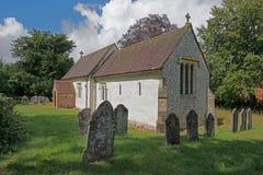 Englische Landkirche Stockbild
