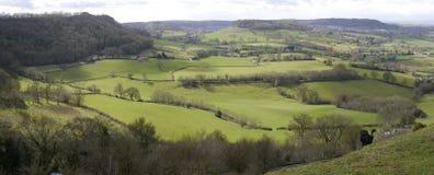 Englische Landschaft Vista Stockfotografie
