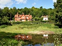 Englische landwirtschaftliche Häuser stockbild