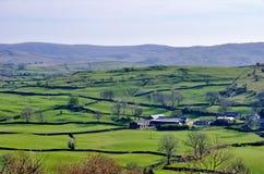 Englische landwirtschaftliche Rollen-Landschaft Stockbilder