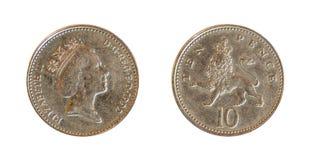 Englische Münze Lizenzfreie Stockfotografie