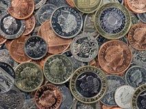 Englische Münzen Stockbild
