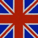 Englische Markierungsfahne in strickendem Muster Stockfotografie