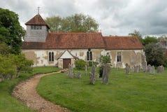 Englische mittelalterliche Kirche Stockbild