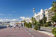 Englische Promenade in Nizza Lizenzfreie Stockbilder