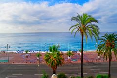 Englische Promenade in Nizza Frankreich stockfotografie