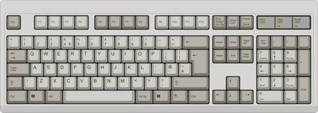Englische QWERTY BRITISCHE Computergrautastatur lizenzfreie abbildung