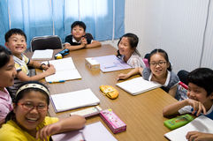 Englische Schule in Südkorea Stockfotos