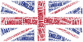 Englische Sprachtag Am 23. April gefeiert Lizenzfreies Stockfoto