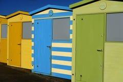 Englische Strand-Hütten Stockbilder