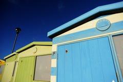 Englische Strand-Hütten Lizenzfreies Stockfoto