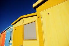 Englische Strand-Hütten Lizenzfreies Stockbild