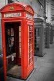 Englische Telefonzelle Stockbild