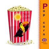 Englischer Buchstabe P popcorn Lizenzfreies Stockfoto