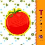 Englischer Buchstabe T Tomate Stockbild
