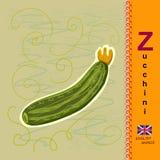 Englischer Buchstabe Z zucchini Stockbild