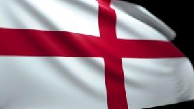 Englischer Flaggen-Hintergrund, der im Wind nahtloses Schleifungsluma Matt-4K durchbrennt stock abbildung