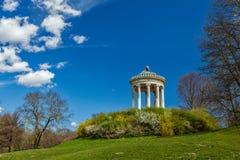 Englischer Garten。慕尼黑,德国 免版税库存照片