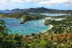 Englischer Hafen in Antigua Stockbild