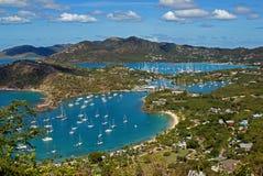 Englischer Hafen Antigua Stockfotografie