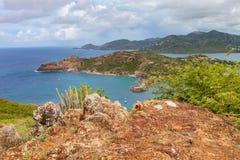Englischer Hafen-Eingang, Antigua, Antigua und Barbuda Stockfotografie