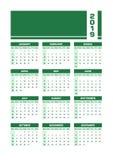 Englischer Kalender grüne 2019 vektor abbildung