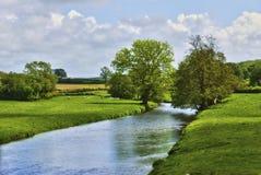 Englischer Landschaft-Fluss Lizenzfreies Stockbild