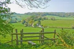 Englischer Landschaft-Zauntritt Lizenzfreies Stockfoto