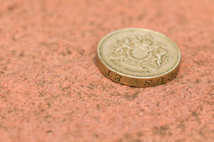 Englischer Pfund-Münzen-Abschluss oben Lizenzfreie Stockfotos