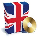 Englischer Software Kasten und CD Stockfotografie