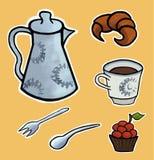 Englischer Teezeremonievektor Stockbild