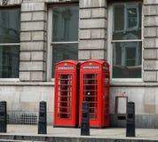 Englischer Telefonkasten Stockbild