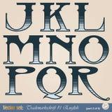 Englisches Alphabet Lizenzfreies Stockfoto