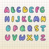 Englisches Alphabet Lizenzfreie Stockfotos