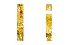 Englisches Alphabet gemacht von den trockenen Blättern und vom trockenen Gras auf weißem Hintergrund für lokalisiert Lizenzfreie Stockfotos