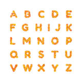 Englisches Alphabet Heller Guss, Buchstaben Auch im corel abgehobenen Betrag Lizenzfreie Stockfotos