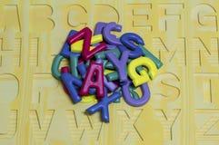 Englisches Alphabet Hintergrund Lizenzfreies Stockbild