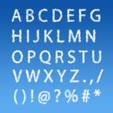 Englisches Alphabet von den Wolken auf blauem Himmel Lizenzfreie Stockbilder