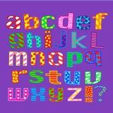 Englisches Alphabet. Zeichen. Lizenzfreie Stockfotografie