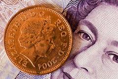 Englisches Bargeld Stockfotografie