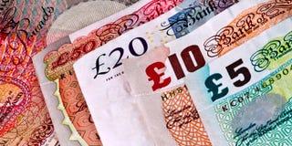 Englisches - britische Banknoten - Bargeld lizenzfreie stockfotografie