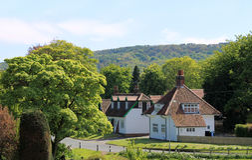 Englisches Dorf Stockfotografie