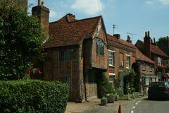 Englisches Dorf Stockbild