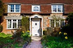 Englisches Dorf-Häuschen Lizenzfreies Stockbild
