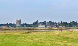 Englisches Dorf Orford Ness im Suffolk Stockfotos
