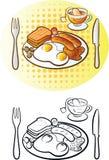 Englisches Frühstück Stock Abbildung