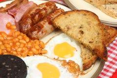 Englisches gekochtes Frühstück stockfoto