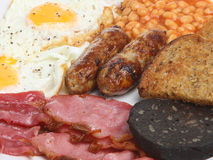 Englisches gekochtes Frühstück stockbilder