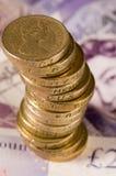 Englisches Geld Lizenzfreie Stockfotos